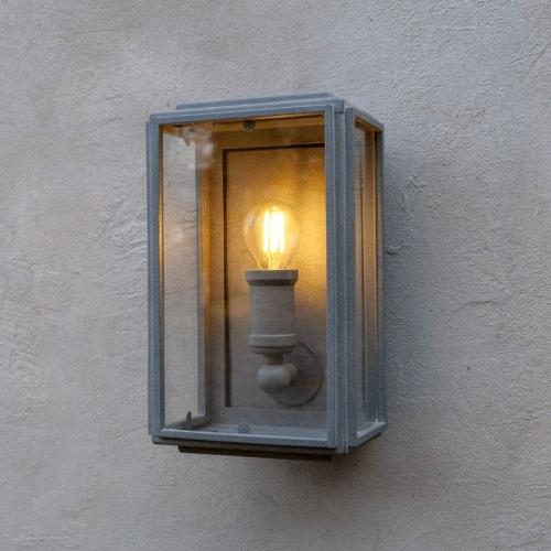 London Box Wall Light Weathered Zinc Mini