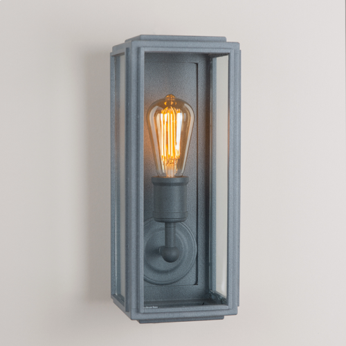 London Box Wall Light Weathered Zinc Slim