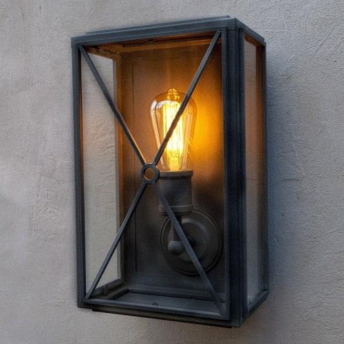 Mayfair Box Wall Light Matt Black Wide