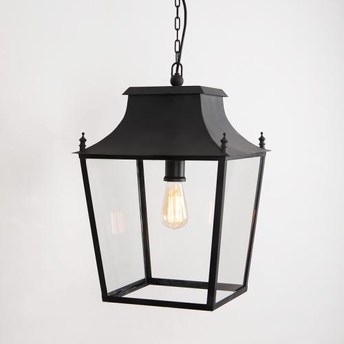 Blenheim Hanging Lantern Matt Black Large