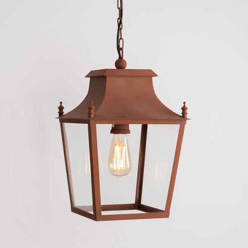 Blenheim Hanging Lantern Corten Steel Small