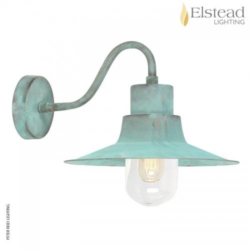 Sheldon Verdigris Brass Wall Light