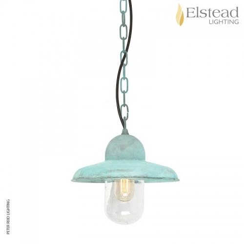 Somerton Verdigris Brass Chain Light