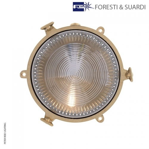Circular Bulkhead Light With Legs 2136 by Foresti & Suardi