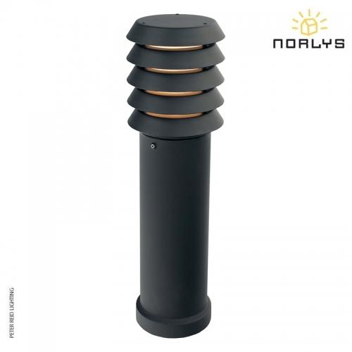 Alta Medium Bollard Black by Norlys