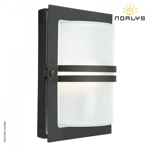 Basel Black Frosted Glass by Norlys