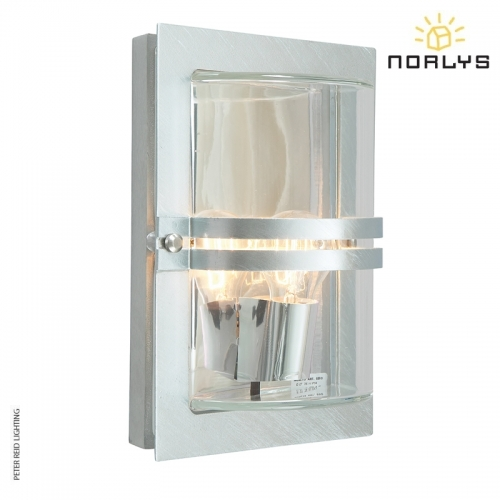 Basel Galvanized Steel Clear Glass by Norlys