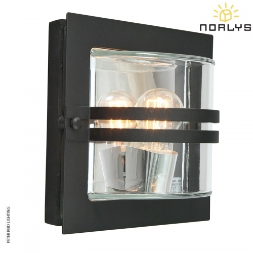 Bern Black Clear Glass by Norlys