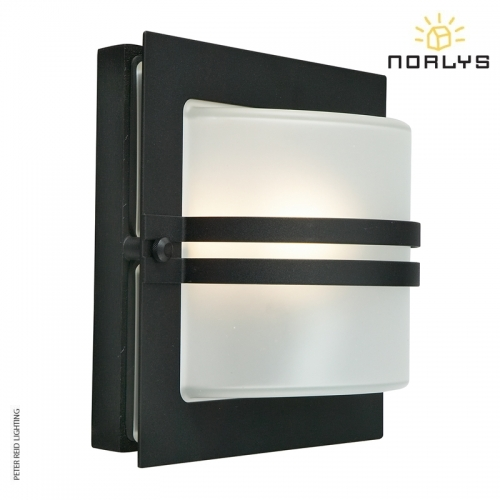 Bern Black Frosted Glass by Norlys