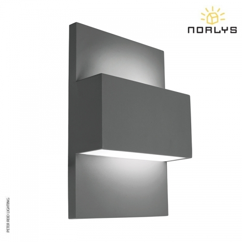 Geneve Graphite Up/Down Wall Light by Norlys