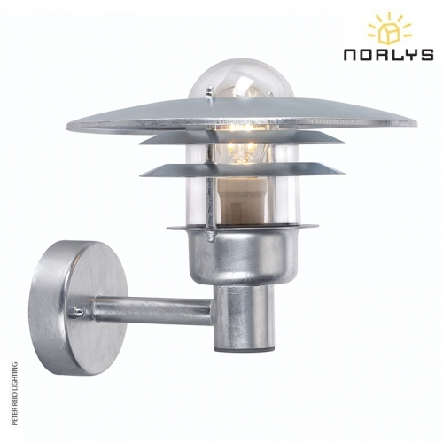 Larvik Galvanized Wall Light by Norlys