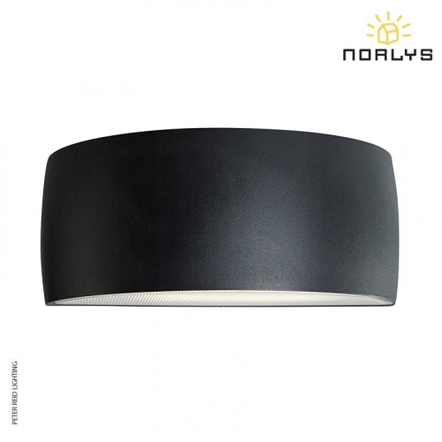 Vasa Graphite Up/Down Wall Light by Norlys