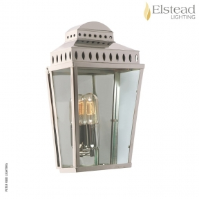 Mansion House Flush Polished Nickel Wall Lantern