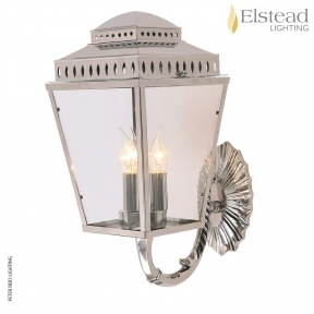 Mansion House Polished Nickel Wall Bracket Lantern