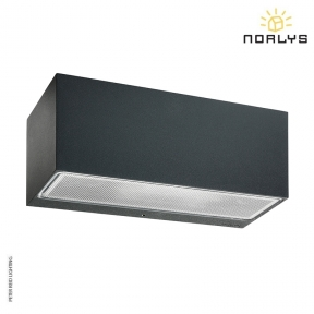 Asker Large Up/Down Wall Light Graphite by Norlys