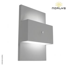 Geneve Aluminium Up/Down PIR Wall Light by Norlys