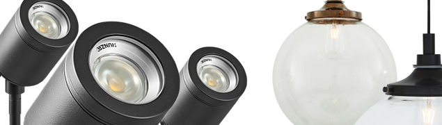 High quality outdoor lighting and interior lighting