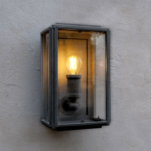 London Wall Light Matt Black Mini