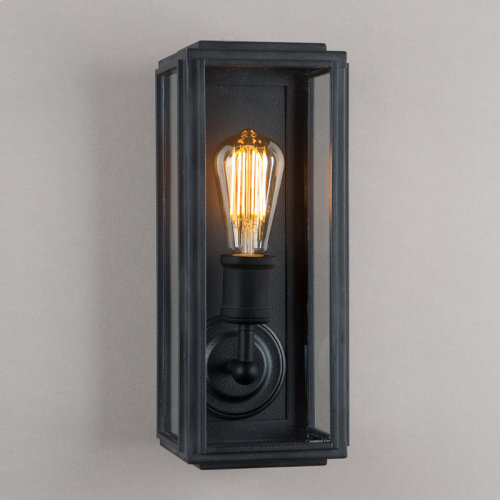 London Wall Light Matt Black Slim