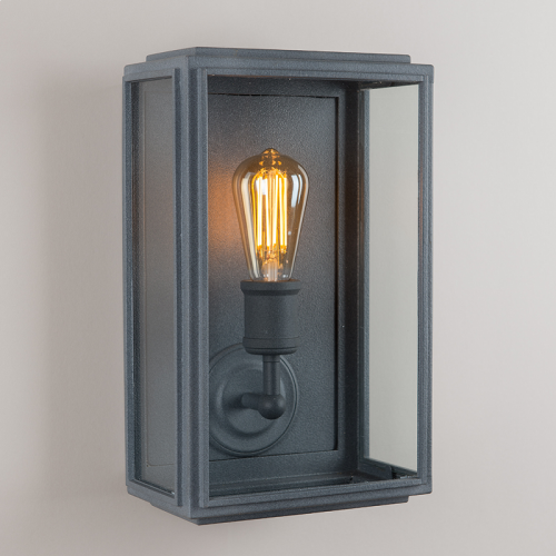 London Wall Light Weathered Zinc Wide