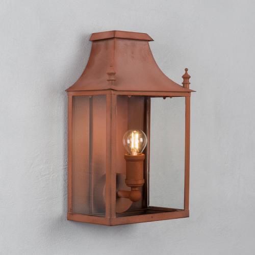 Blenheim Coach Lamp Corten Steel Small