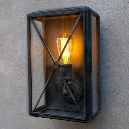 Mayfair Wall Light Matt Black Wide