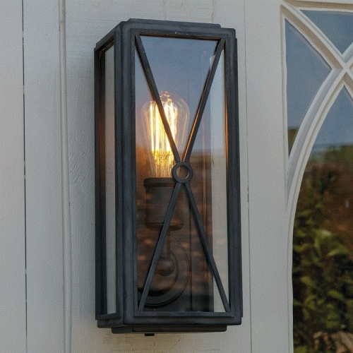 Mayfair Wall Light Matt Black Slim
