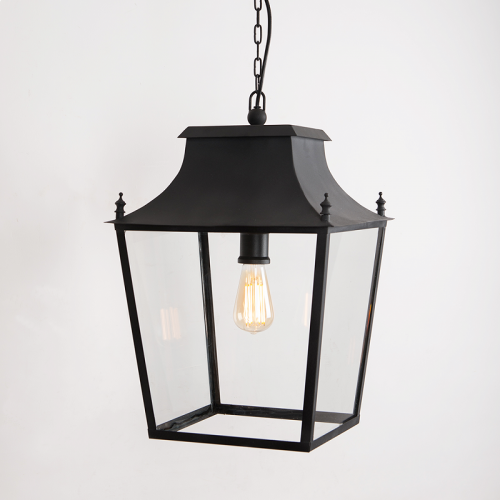 Blenheim Hanging Lantern Matt Black Large