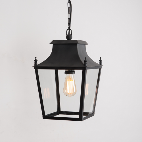 Blenheim Hanging Lantern Matt Black Small