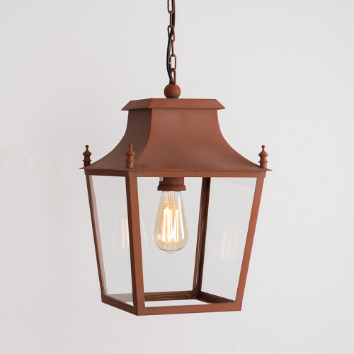 Blenheim Hanging Lantern Corten Steel Small