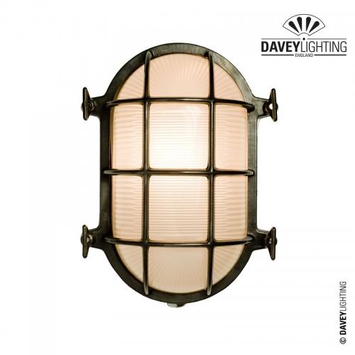 Brass Oval Bulkhead 7035 75W by Davey Lighting