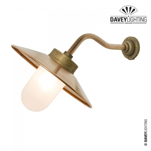 Exterior Bracket Light 7680 Canted Arm Gunmetal by Davey Lighting