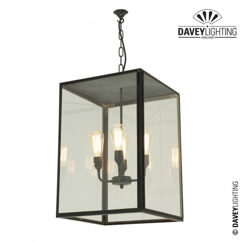 Exterior Square Pendant Extra-Large 7638/4ELE by Davey Lighting