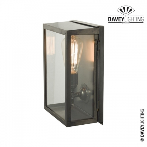 Box Wall Light Medium Internally Glazed 7644 by Davey Lighting