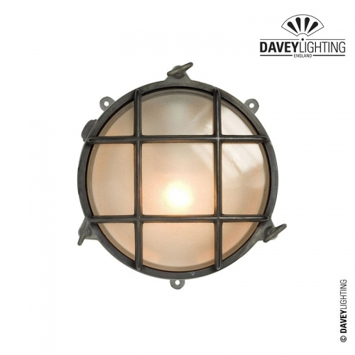 Brass Bulkhead 7030 With Fixings Through Feet 60W by Davey Lighting