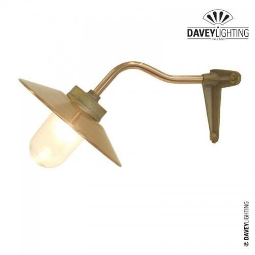 Exterior Bracket Light 7680 Canted Arm Corner Fork Gunmetal by Davey