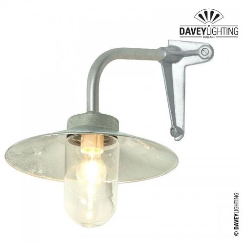 Exterior Bracket Light 7680 Corner Fork Galvanized by Davey Lighting