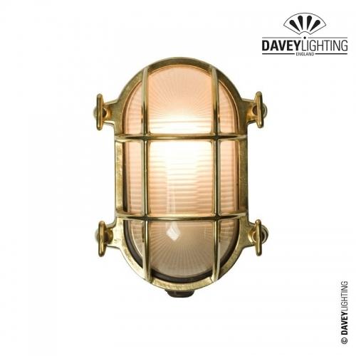 Brass Oval Bulkhead 7036 40W by Davey Lighting