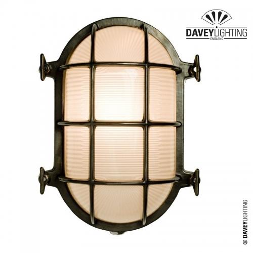 Brass Oval Bulkhead 7034 100W by Davey Lighting