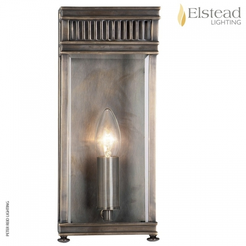 Holborn 1 Lamp Wall Lantern Dark Bronze