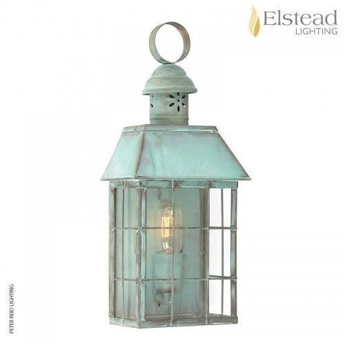 Hyde Park Brass Wall Lantern Verdigris