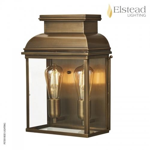 Old Bailey Brass Wall Lantern Large