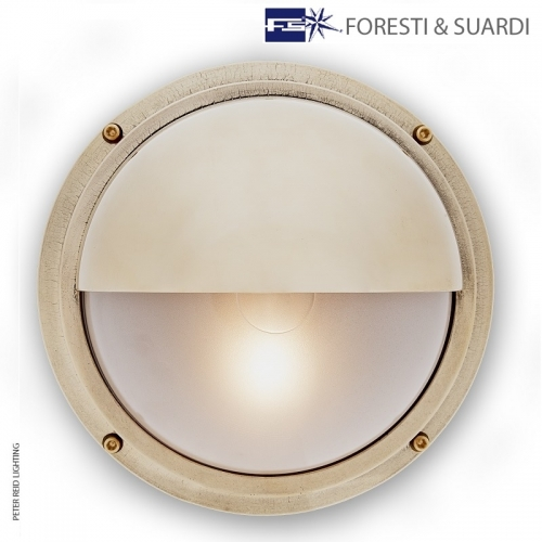 Round Bulkhead Light With Eyelid 2225 by Foresti & Suardi