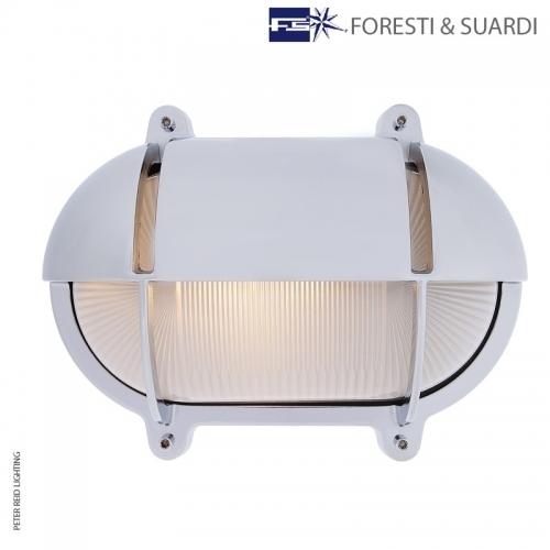 Oval Bulkhead Light With Eyelid 2434 Extra Large by Foresti & Suardi