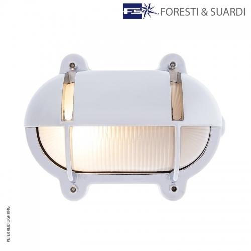 Oval Bulkhead Light With Eyelid 2435B Medium by Foresti & Suardi