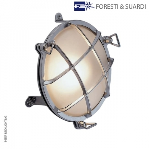 Circular Bulkhead Light With Legs 2029 Large by Foresti & Suardi
