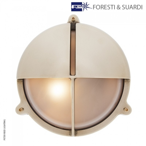 Round Bulkhead Light With Eyelid 2427 Large by Foresti & Suardi