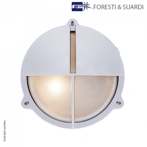 Round Bulkhead Light With Eyelid 2428 Medium by Foresti & Suardi