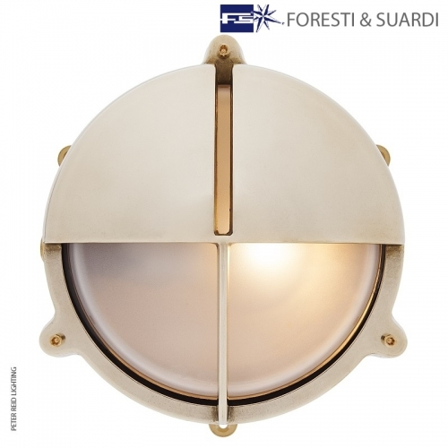 Round Eyelid Bulkhead Light With Legs 2429 Large by Foresti & Suardi