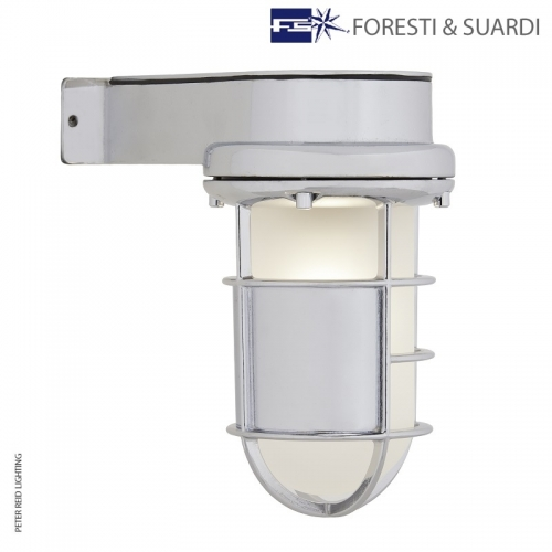 Side Arm Bulkhead Light With Shroud 2430B by Foresti & Suardi